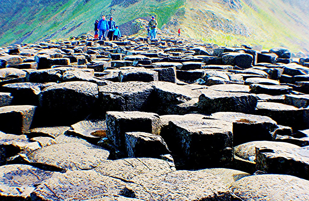 Columns at Giant's Causeway, Northern Ireland.