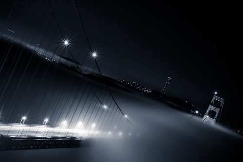 Fog over the Golden Gate Bridge | by 2_deviant