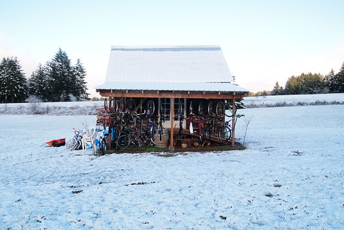 Snowy bike shop | by Randi Jo Smith