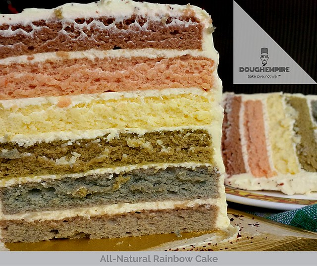 All-Natural Rainbow Cake by Dough Empire, Singapore