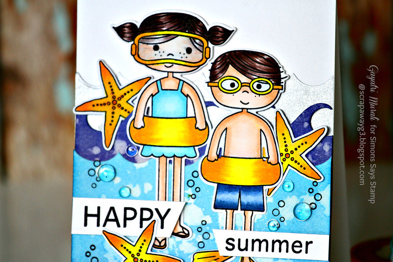 Happy Summer card closeup