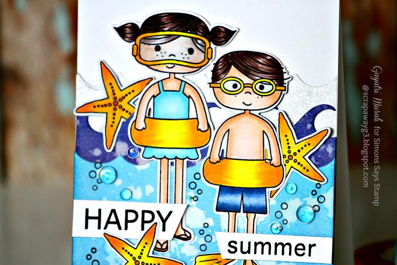 Happy Summer card closeup