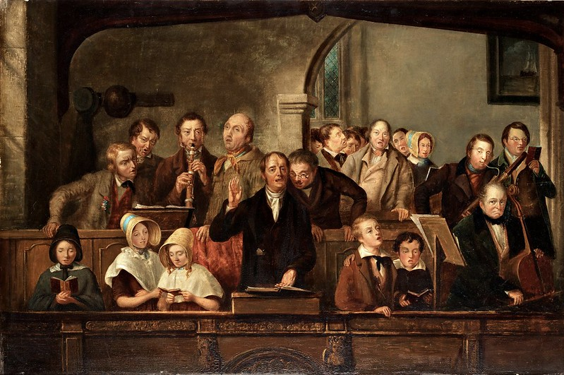 Engelsk Skola 1800 - The church choir