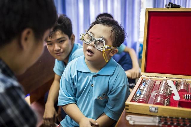Huy at orphanage