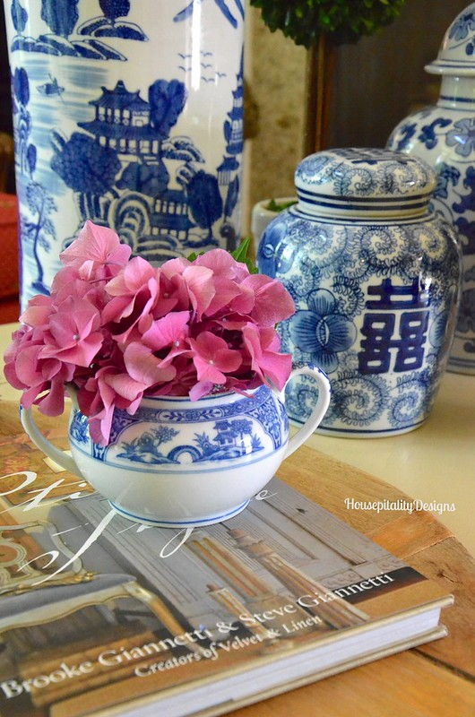 Blue and White Vignette - Housepitality Designs