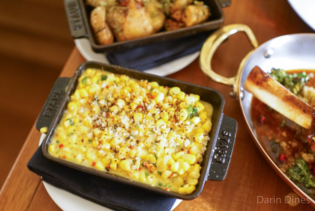 BRENTWOOD CORN RAGOUT Chilies, Lime, Cotija Cheese