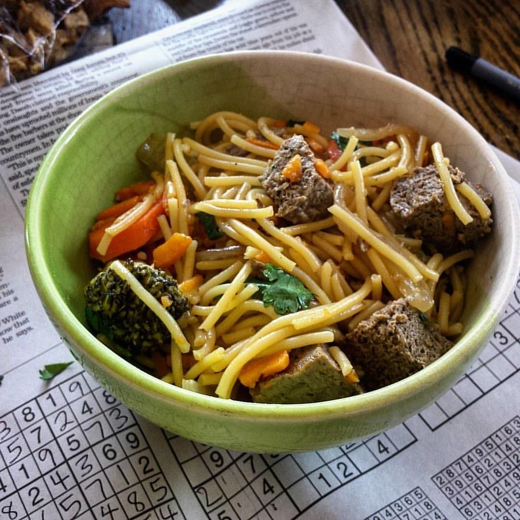 Orange Tofu Noodles