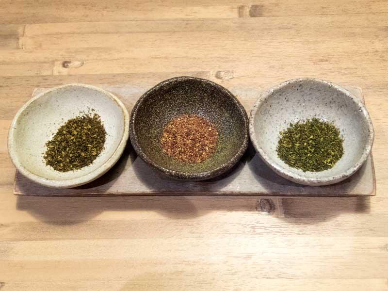 175°DENO〜担担麺〜 花椒三種盛り