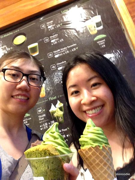 Selfie-with-matcha-treats