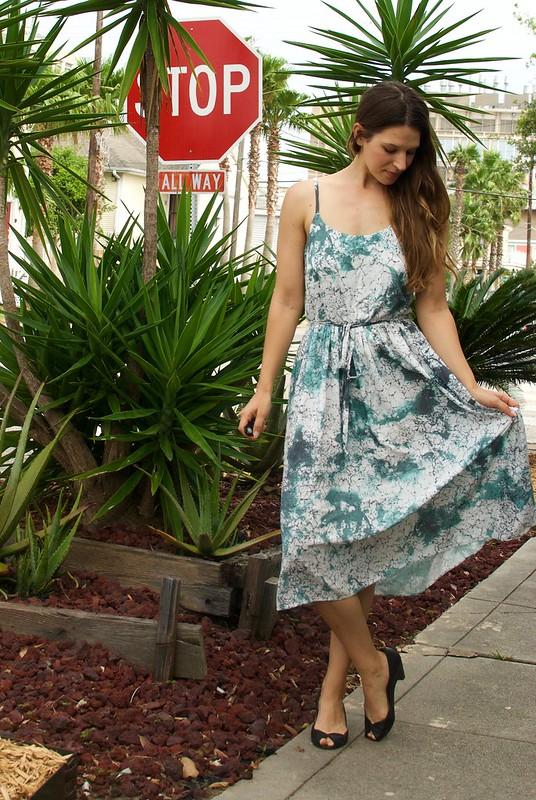 Mood Fabrics Marble Print Rayon | Seamwork Catarina
