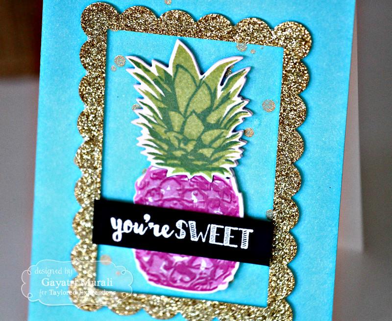 You're Sweet card closeup by Gayatri Murali