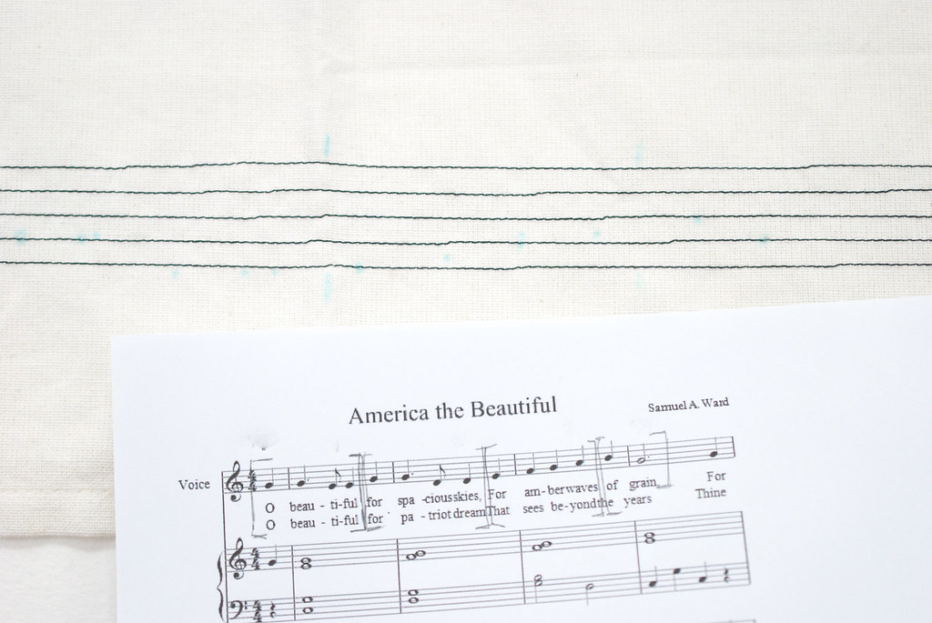 Embroidered Musical Towel