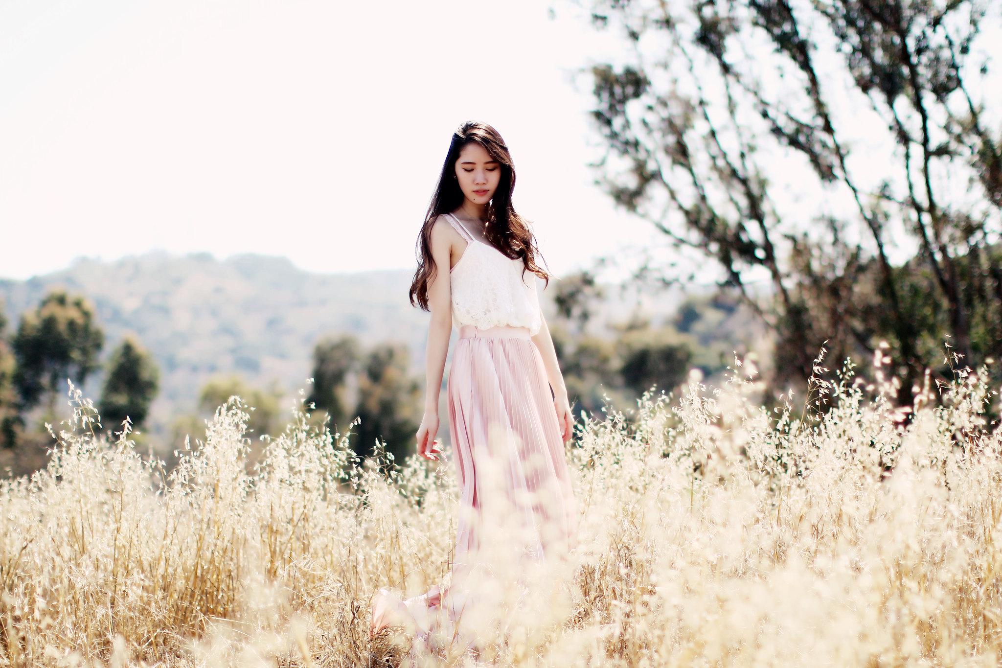 9783-pink-maxi-skirt-korean-fashion