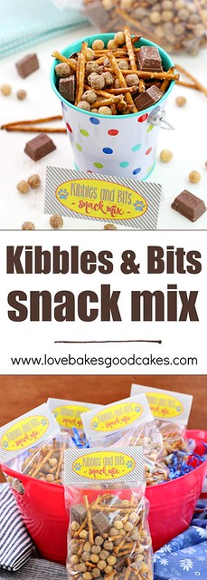 Kibbles & Bits Snack Mix collage.