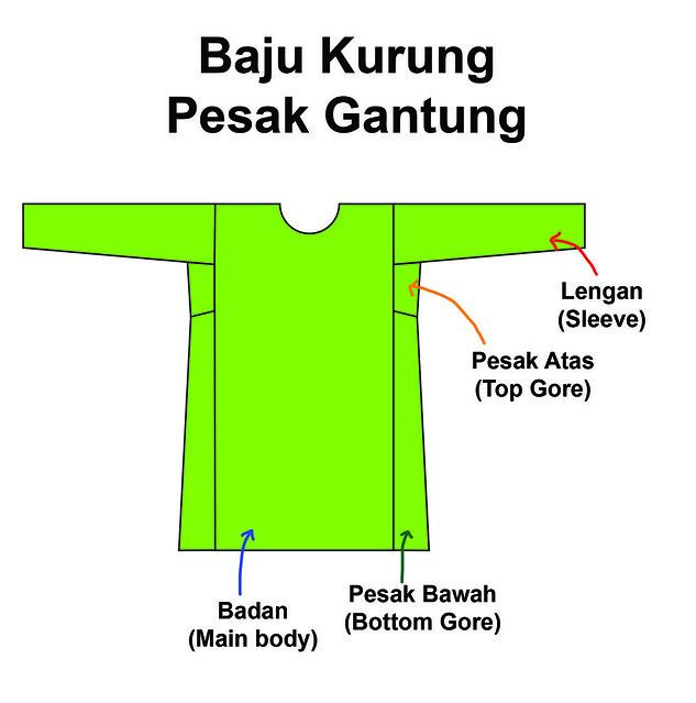 Baju Kurung Pesak Gantung