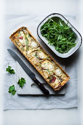Goats cheese, bacon and caramelised onion tart. | Flickr - Photo ...