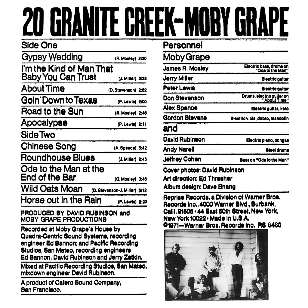 Moby Grape ‎- 20 Granite Creek
