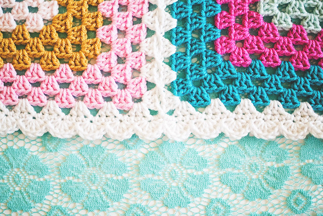 Granny Four Square edging