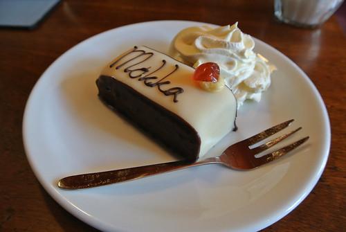 Marzipan layer cake from Mokka