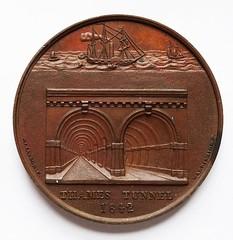 Isambard Marc Brunel, Thames Tunnel medal reverse
