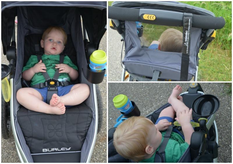 Burley Solstice Jogging Stroller collage