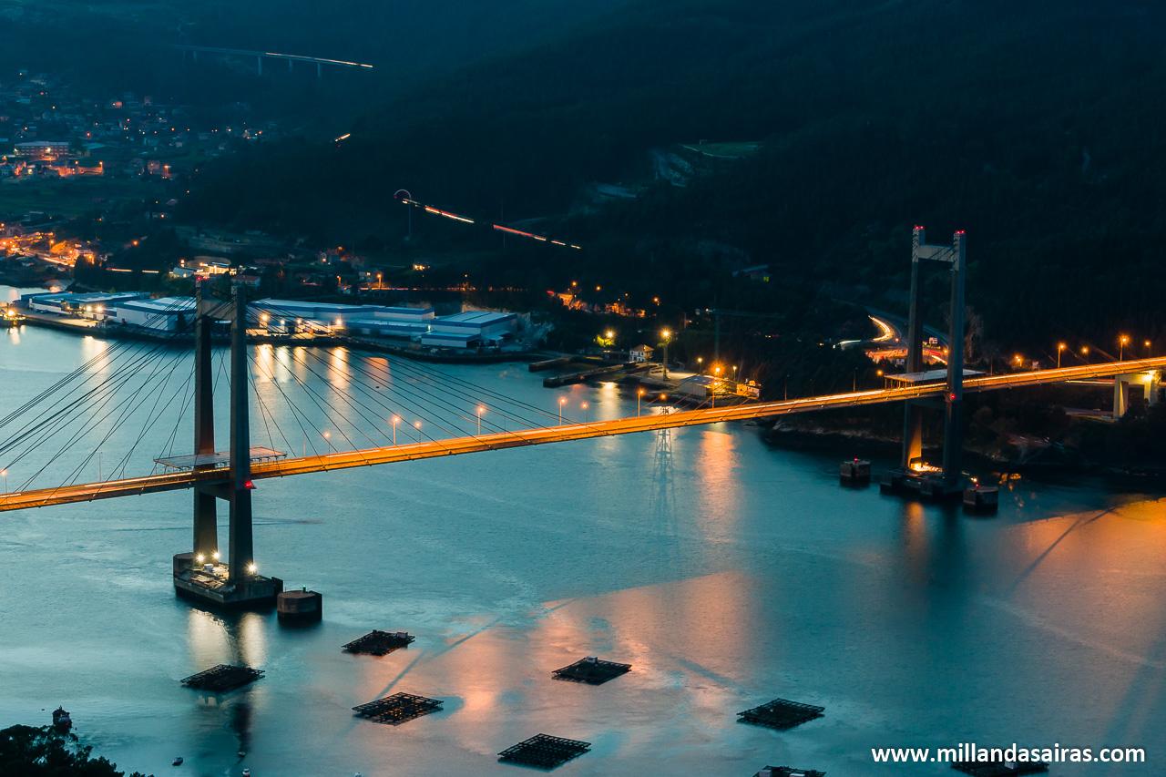 Vistas de la ría de Vigo desde Redondela