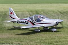 G-CHMW - 2013 build Aerotechnik EV-97 Eurostar SL, taxiing to parking on arrival at Barton