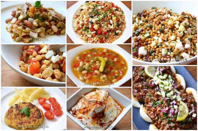Collage legumbres en verano
