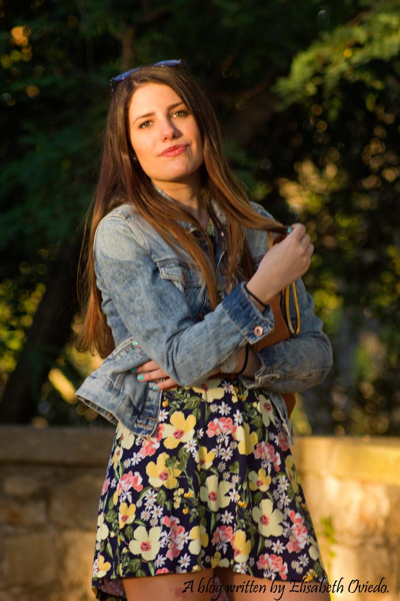 vestido floral chaqueta vaquera denim heelsandroses (2)