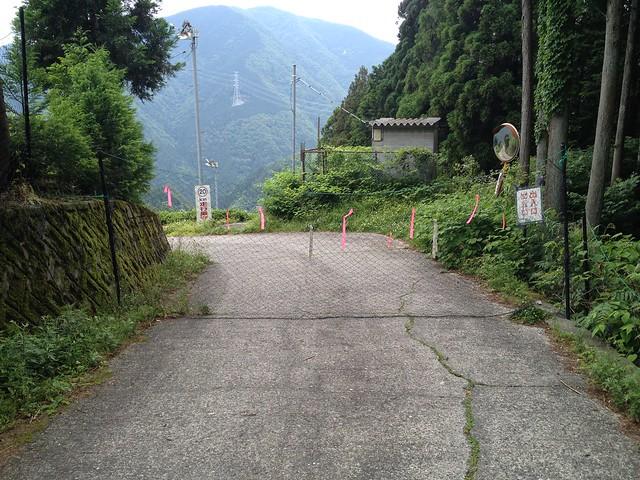 岐阜のマチュピチュ 天空の遊歩道 獣避け網