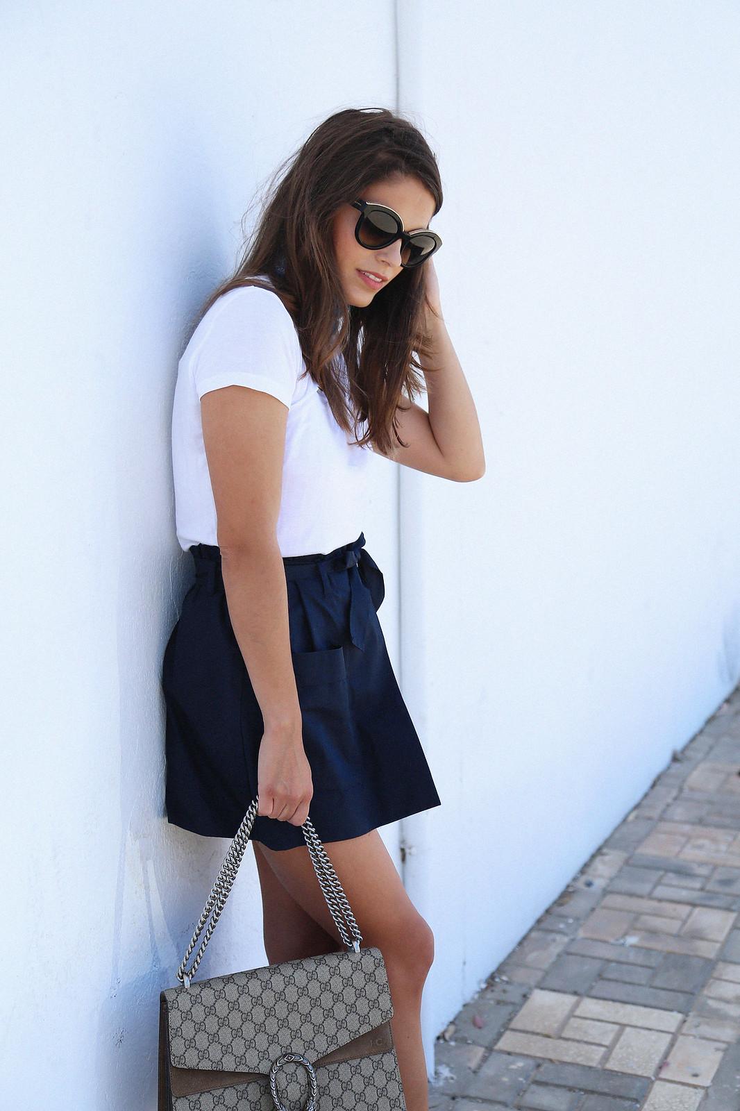 jessie chanes seams for a desire blue skort white tshirt wooden wedges sandals-12