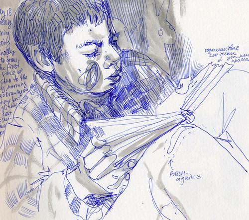 Sketchbook #97: Reading