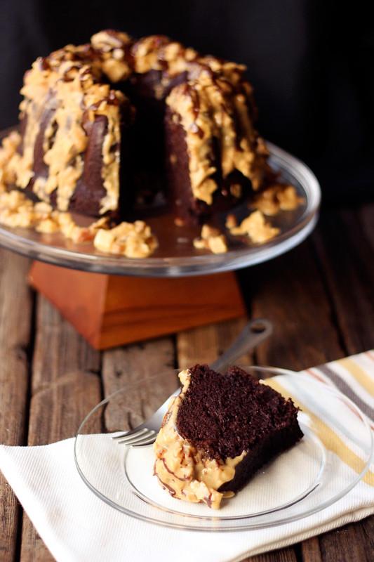 Grain-free German Chocolate Bundt Cake {Gluten-free, Dairy-free, Paleo}