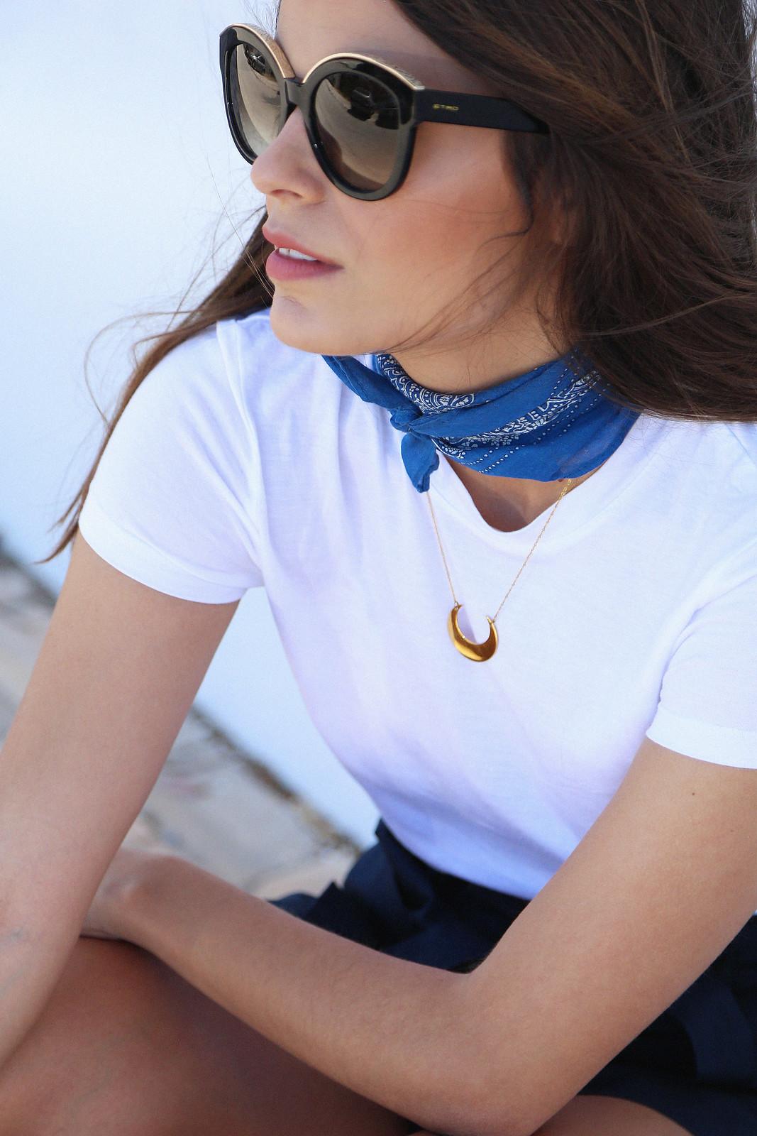 jessie chanes seams for a desire blue skort white tshirt wooden wedges sandals-9