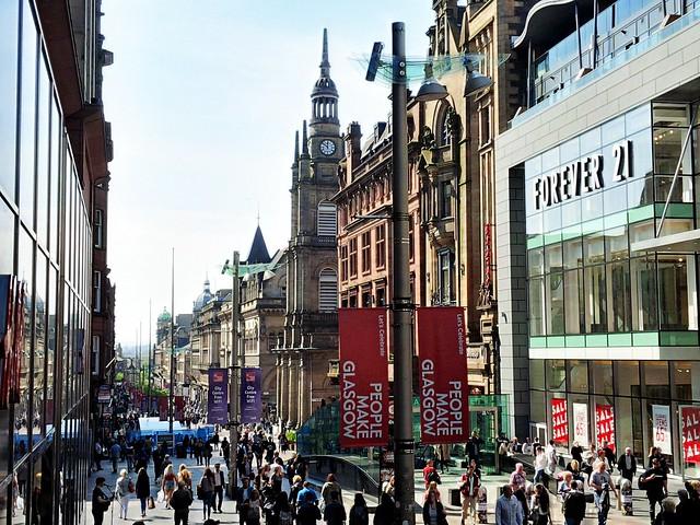 Buchanan Street, Glasgow, Scotland.