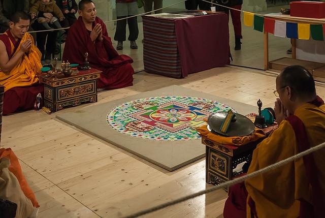 Mandala tibétain, exposition Signes & Sable, Arles