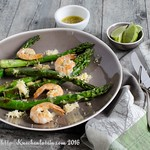 Grilled Shrimp & Asparagus with Lemon-Shallot-Vinaigrette