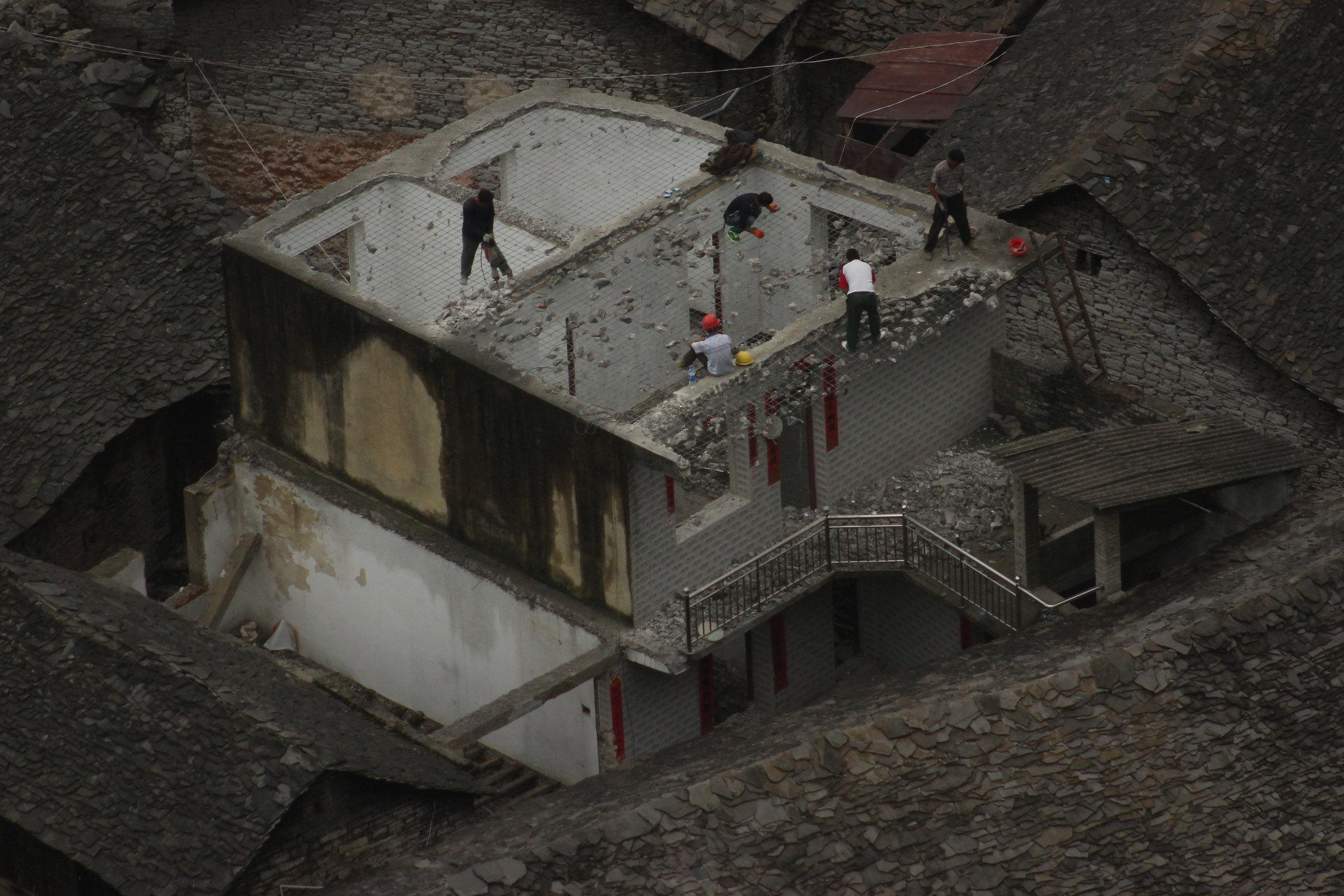 Mesh Roof work