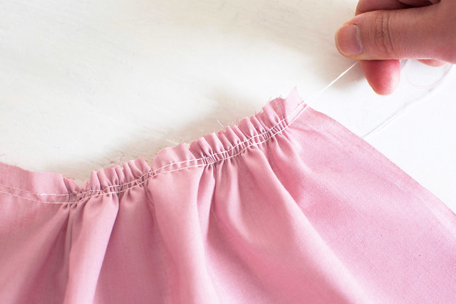 Before and after: ruffle skirt