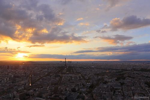 Paris at Sunset from Montparnasse Tower