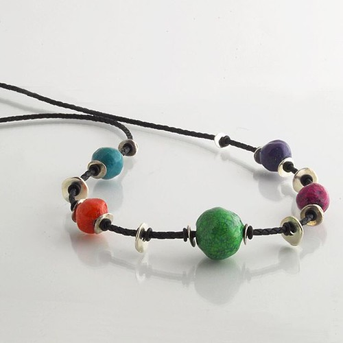 Kiahdesign Paper Bead Necklace