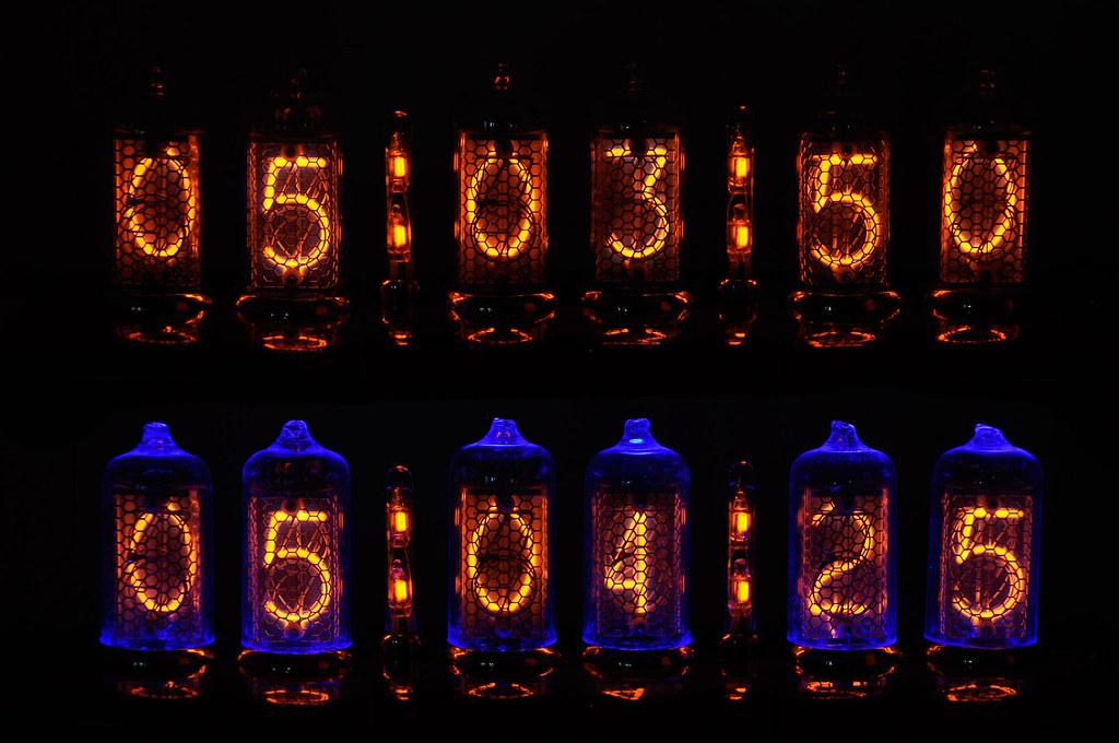 blue backlight nixie clock