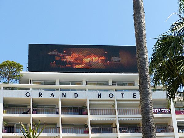 écran grand hôtel