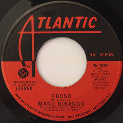 MANU DIBANGO:DANGWA(LABEL SIDE-B)