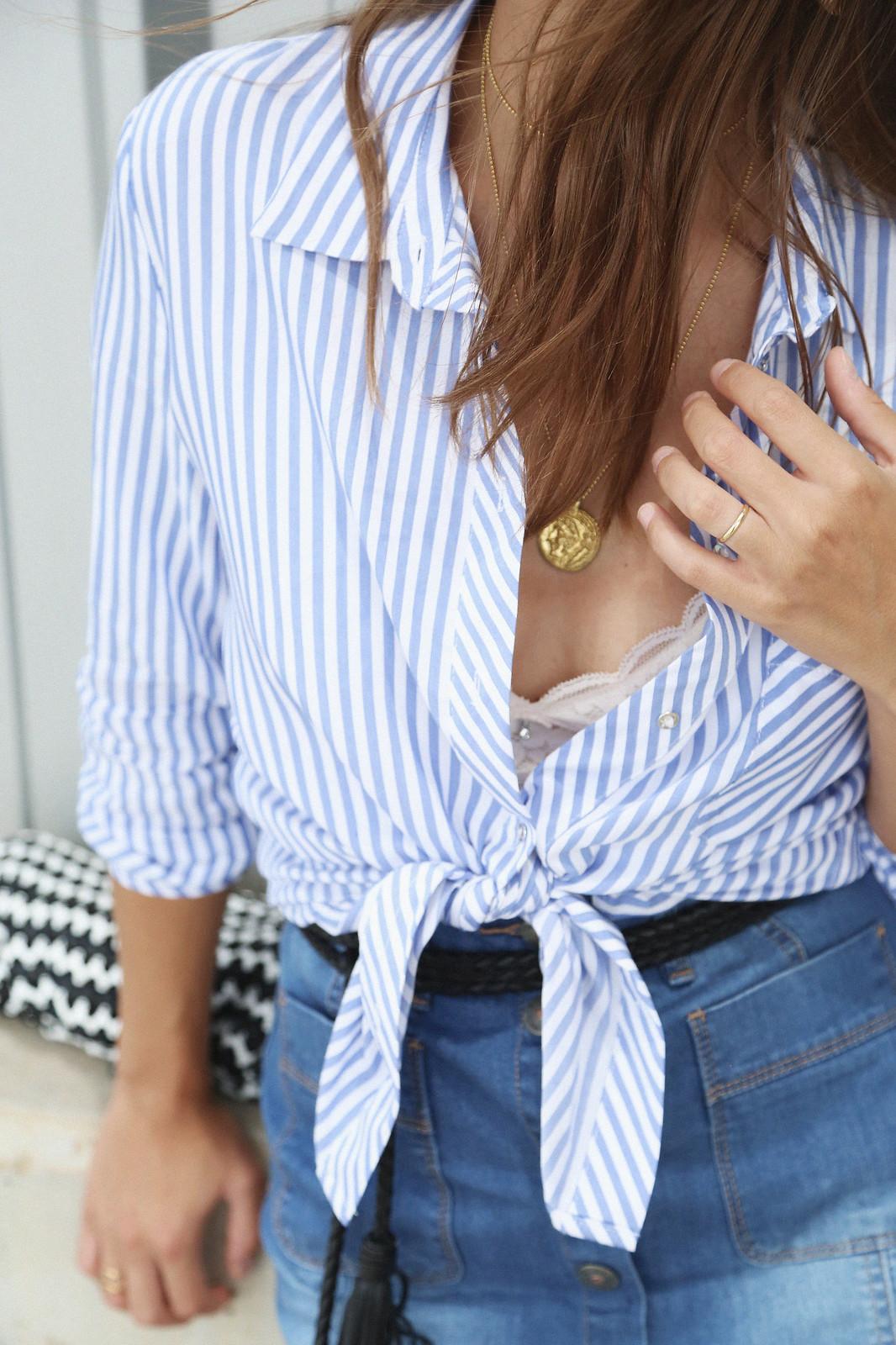 jessie chanes seams for a desire denim skirt stripes shirt-11