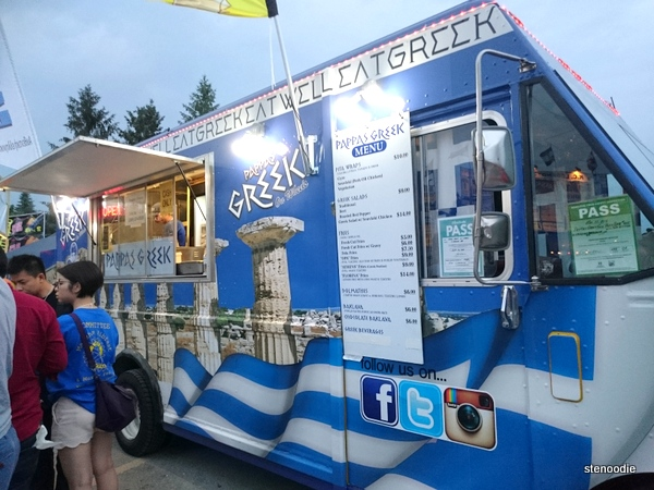 Pappas Greek on Wheels food truck
