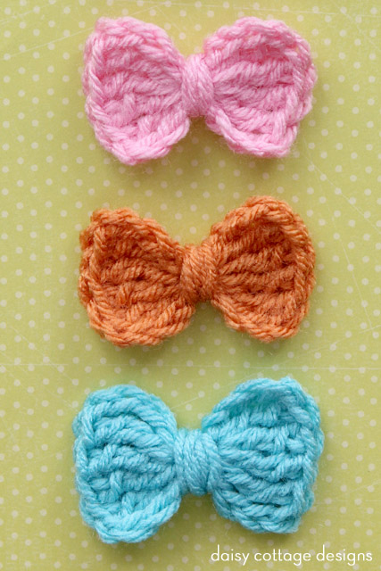 Easy Crochet Bow Pattern Daisy Cottage Designs