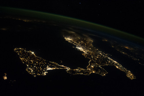 Italy and sicily at night nasa international space stati for Space station 13 3d
