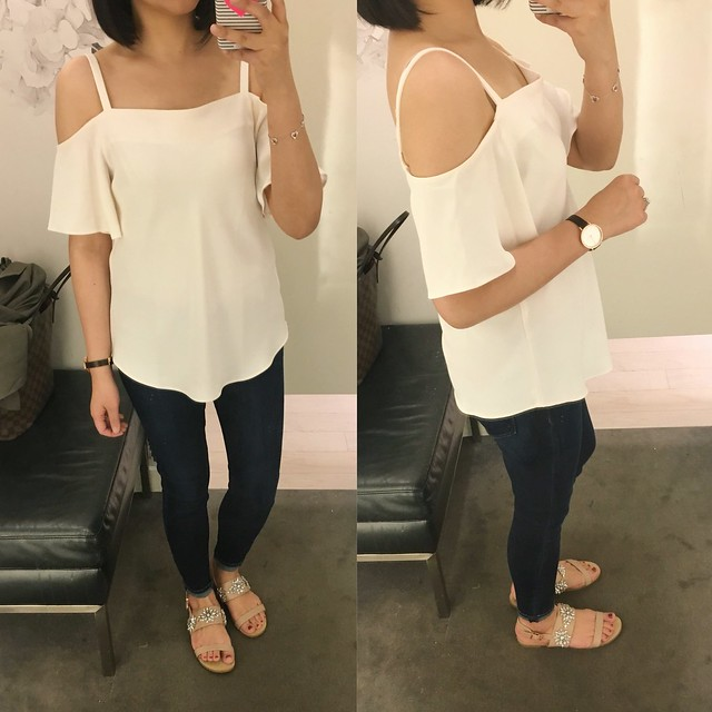 Ann Taylor Strappy Off The Shoulder Top, size XS regular