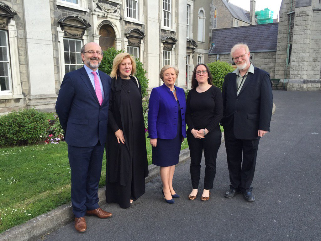 Tánaiste Fitzgerald meets key note speakers at VoxPol conference, DCU - 23rd June 2016